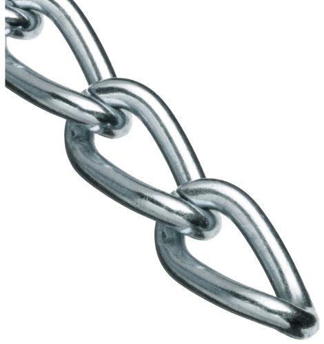 Campbell 0719027 Hobby and Craft Twist Chain, Nickel Plated, #90 Trade, 0.056