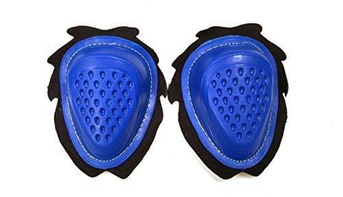 Rodilleras deslizantes para motocicleta. 2 unidades., azul