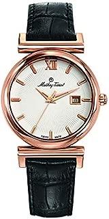 Mathey Tissot Elegance Women's White Dial Leather Band Watch - D410PLI