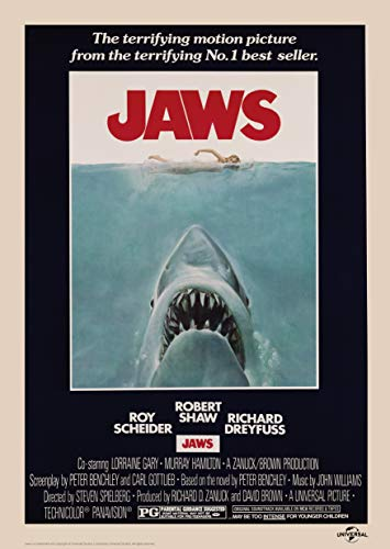 Jaws 1975 Movie Poster Limited Edition Fine Art Print
