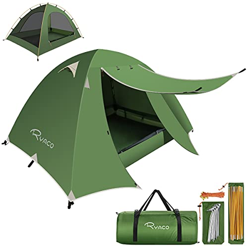 RYACO Zelt 2 und 3 Personen Ultraleichte Camping Zelte, Leichte Kuppelzelte für Erwachsene Camping, Rucksack und Outdoor Wanderausrüstung Grün