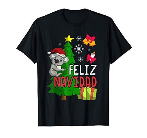 Feliz Navidad Regalo Niños Niñas Navidad Animal Koala Camiseta