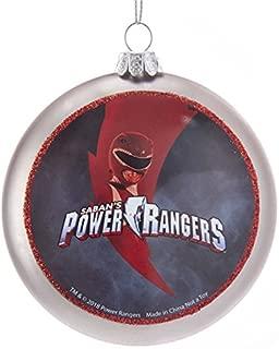 Kurt S. Adler 100MM Double-Sided Power Rangers Glass Disc Ornament