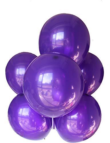 Chailert Balloon - Globos de látex para decoración de fiestas, 100 unidades, color morado