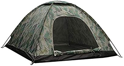 Waterproof windproof ultraviolet-proof outdoor travel camping 3-4people camouflage multifunction rainning proof tent - Bottom Black / Silver