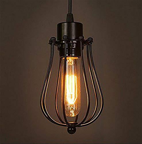 Retro Vintage Hängeleuchte Pendelleuchte Deckenbeleuchtung Käfiglampe E27 Fassung für Esstisch, Schlafzimmer,Kaffee-Bar,Leseraum Beleuchtung