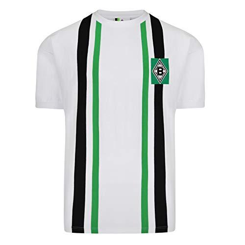 Score Draw Herren Retro - Trikot Borussia Mönchengladbach | Heimtrikot 1974 in Weiß, Größe: XL
