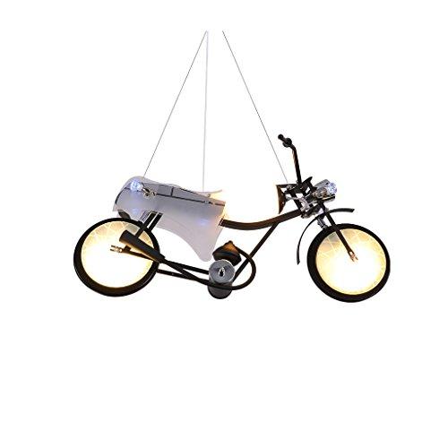 Briskaari Shop- Kinderzimmer Eisen Glas Lichter Kronleuchter Kinder Kronleuchter Jungen Mädchen Fahrräder Kinderlampen Kronleuchter Motorräder LED Lampe Hänge- & Pendelleuchten