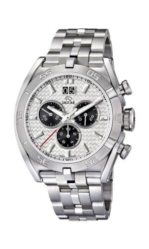Jaguar Watches J654/1 - Reloj analógico de Cuarzo para Hombre con Correa de Acero Inoxidable, Color Plateado