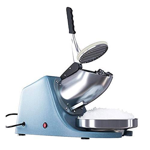 Adesign Elektrische Doppelklingen Ice Crusher Shaver Schnee-Kegel-Hersteller-Maschine Silber for Heim- und kommerziellen Einsatz, Edelstahl-Blatt Ice Crusher Aufsatz- Smoothie