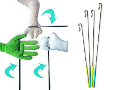Rodayna Arm Control Rod Stick Accessory for Hand Puppets Ventriloquist Puppet, 4 Pack(12' 15' 17')