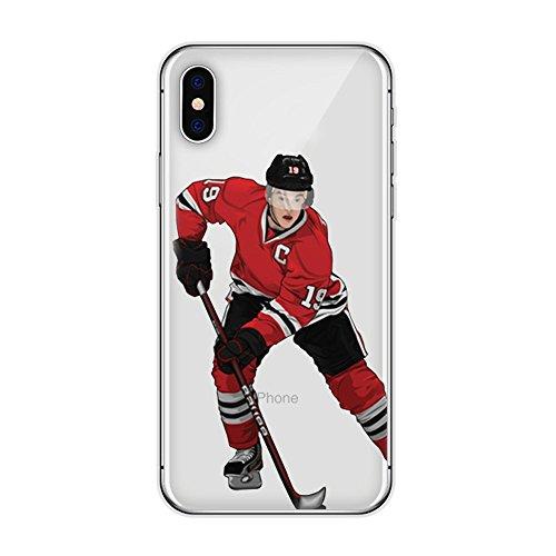 iPhone 7 Plus / 8 Plus Hockey Player Schutzhülle Weich Silikon Transparent Dünn TPU (17)