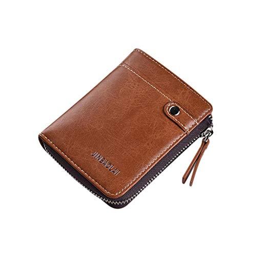 ➤JIAMENG-Geldbörsen Männer, Führerschein Hochformat Portmonaise RFID Groß Geldbeutel Herren Minimalisten Wallets Mini Kreditkartenetui