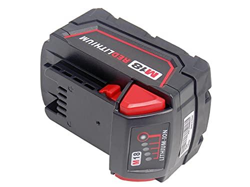 18V 5000mAh Remplacer la batterie Milwaukee pour M18 48-11-1828 48-11-1840 C18B M18BX Li18 (OEM) M18B4 M18 XC 48-11-1850 2646-22CT 2643-21CT 2641-21CT 2646-21CT