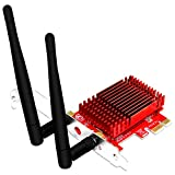FebSmart PCI Express WiFi Bluetooth Adapter for Windows 7 8 8.1 10 Server System Desktop PCs-2.4GHz 300Mbps 5GHz867Mbps–with Bluetooth 4.2,Heatsink,TX Beamformee and MU-MIMO Technology (FS-AC85BT)