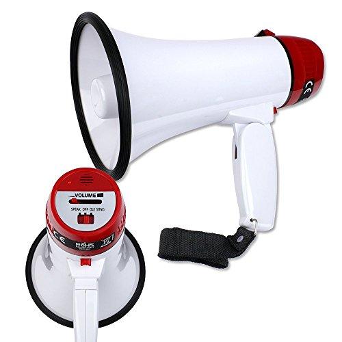 Schramm ® Megáfono sin baterías Megáfono Aprox. 22,5 x 14 x 14 cm Altavoz Ventilador Megáfono de Mano Micrófono de Mano