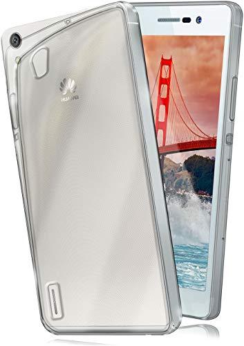 moex Aero Hülle kompatibel mit Huawei Ascend P7 - Hülle aus Silikon, komplett transparent, Klarsicht Handy Schutzhülle Ultra dünn, Handyhülle durchsichtig einfarbig, Klar