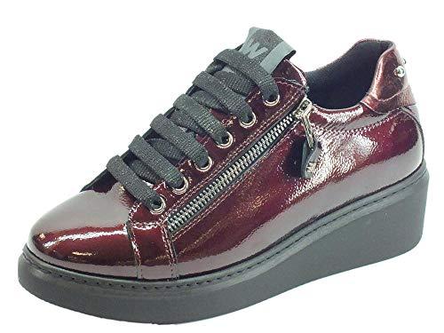 Melluso Walk Techno R25425 Aurora Sneakers Bordò para Mujer de Pintura con Lampo y Cordones Rojo Size: 40 EU