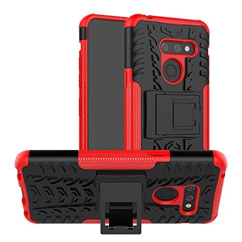 Labanema LG G8 Funda, [Heavy Duty] [Doble Capa] [Protección Pesada] Híbrida Resistente Case Protectora y Robusta para LG G8- Rojo