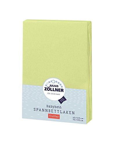 Julius Zöllner Frottee Spannbettlaken für Baby- & Kinderbett, 60x120cm bis 70x140cm, STANDARD 100 by OEKO-TEX, grün
