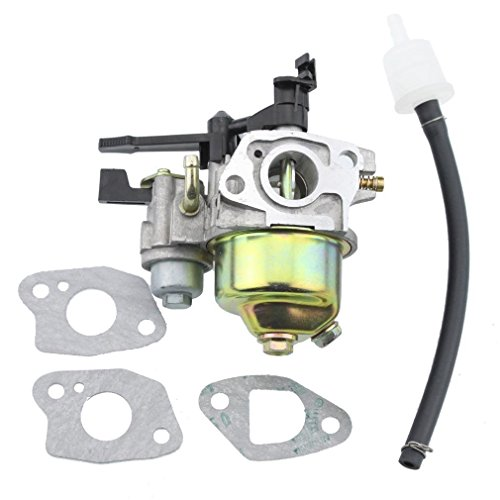 GOOFIT Carburador Minimoto con arandela de 2 tiempos adecuado para Honda GX120 GX160 5.5HP 6.5HP GX200 GX240 8HP GX270 9HP GX340 GX390 Pit Bike ATV Ciclomotor de cuatro ruedas Bicicleta plateada