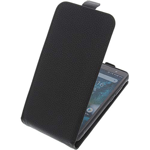 foto-kontor Tasche für Ruggear RG850 Smartphone Flipstyle Schutz Hülle schwarz