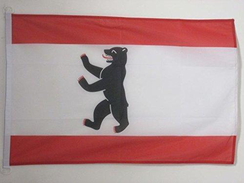 AZ FLAG BOOTFLAGGE Berlin 45x30cm - Berlin BOOTSFAHNE 30 x 45 cm Marine flaggen Top Qualität
