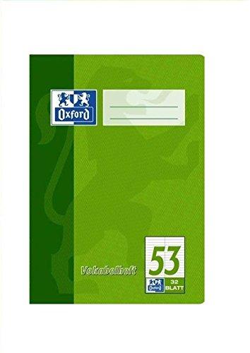 Oxford 384503253/100050383 Vokabelheft, A5, zweispaltig, 90 g/qm, 32 Blatt