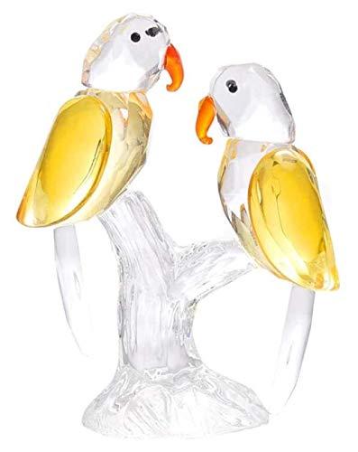 Estatuas de animales Adornos de la estatua Esculturas Crystal Parrot Adornos Nuevos artículos de boda Housewarming Living Gabinete de vino Ventana Simulación Hogar Pequeño Joyería Artesanía Decoracion