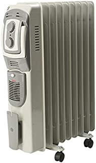 Bimar S109T.EU - Calefactor (Calentador de aceite, Piso, Gris, Giratorio, 2000 W, 350 W)