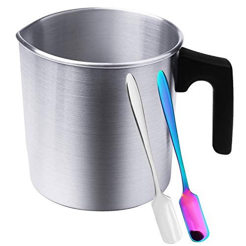 Candle Making Pouring Pot,Candle Melting Pot,2.6 Pounds DIY Candle Wax,Heat-Resisting Handle Wax Melting Pot for Candle Making,Candle Making Pot with Heat-Resisting Handle Measuring Spoons