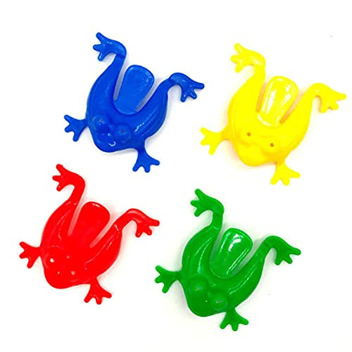 VILLCASE 24 Piezas de Rana de Juguete de Plástico de Salto de Rana Colorido Duradero No Tóxico para Niños Jugando Fiestas Regalos de Fiesta de Cumpleaños