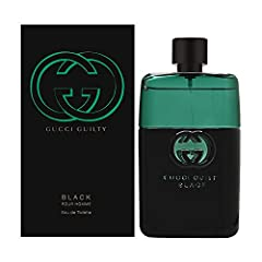 Gucci Guilty Black by Gucci for Men 3.0 oz EDT Spray: Buy Gucci Colognes - Life is thrilling and meant to be lived to the fullest. Gucci Guilty Black: Indulge your deepest desires. top notes of lavender and coriander heart notes of orange flower base...