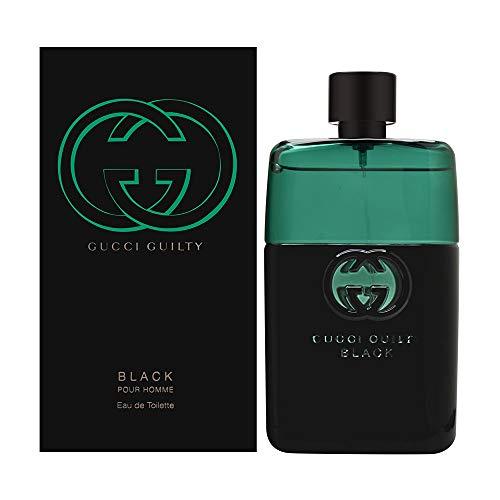 Gucci Guilty Black Pour Homme Eau de Toilette Spray for Men, 3 Ounce: GUCCI