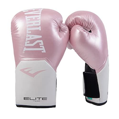 Everlast Elite Pro Style Training Gloves, Pink/White, 8 oz