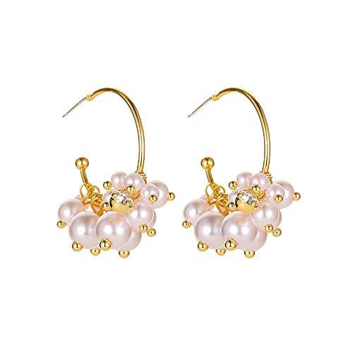 Pendientes de perlas para mujer, moda hipoalergénica para niñas, pendientes de perlas, pendientes colgantes, joyería, regalos