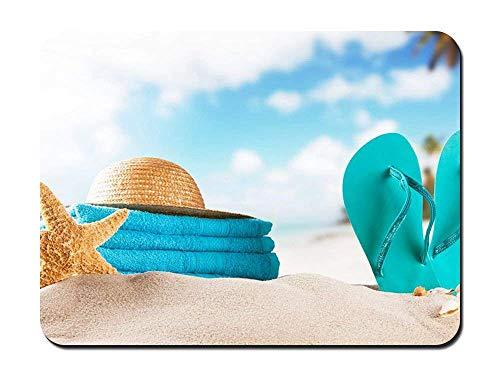 FETEAM Toalla de Arena de Playa Rectángulo Alfombrilla de ratón de Goma Antideslizante Alfombrilla de ratón para Juegos