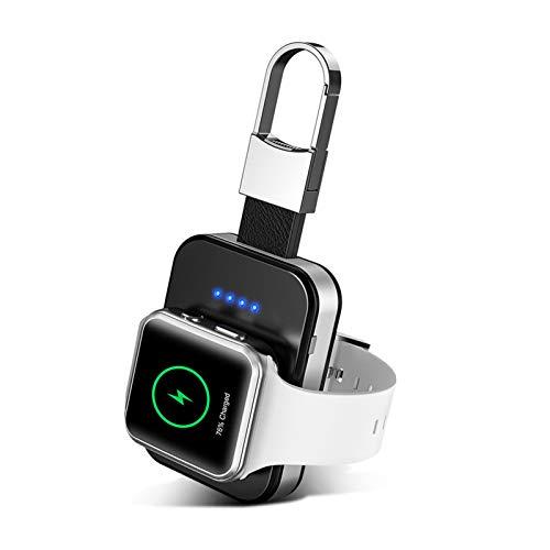 Cargador Inalámbrico para Apple Watch,Banco de Energía de Viaje con Llavero Magnético de 950/1000/5200mAh,Cargador de Bolsillo iwatch Compatible para Apple Watch Series 5/4/3/2/1 y 44/40/42/38mm