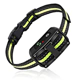 Smart Dog Bark Collar, 2 Anti Barking Modes w/5 Adjustable Sensitivity Levels for Small, Medium and Large Dogs, Waterproof & Rechargeable Barking Training Collar with Beep Vibration and No Harm Shock