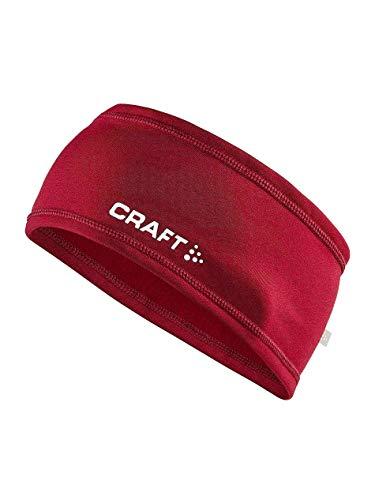 Craft Unisex Thermo-Stirnband, leicht, warm, elastisch, Unisex, Thermal Lightweight Warm Elastic Reflective Headband, Rhabarberfarben, Small/Medium