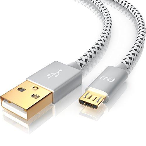 CSL - 2m Micro USB Kabel - 2,4A Schnellladekabel - Nylonkabel Metallstecker - High Speed Ladekabel Datenkabel für Android Smartphones Samsung Galaxy HTC Huawei Sony Nexus Nokia Kindle