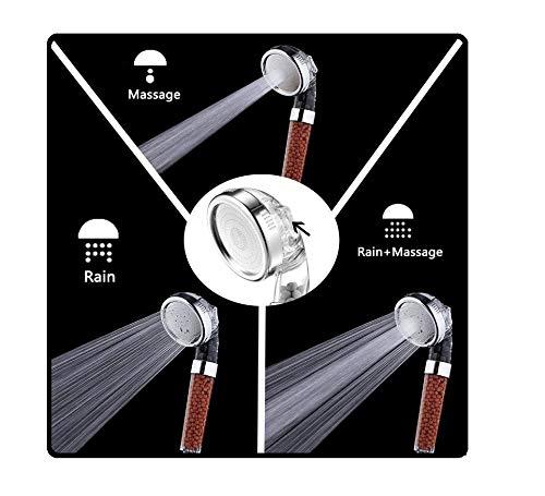 Pomme de douche à pulvérisation Pompe à douche à haute pression Pompe à douche Économie d'eau avec 3 modes d'arrosage