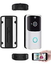 KOPOU M10 WiFi Introductie van Video Deurbel, Draadloze Smart Ring Deurbel met Twee-weg Talk, Smart PIR, HD Camera voor Home Security