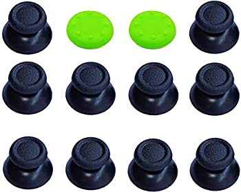 5 Pairs Replacement Analog Stick Joystick Thumbsticks Thumb Grips Buttons for Playstation DualShock 4 PS4 Controller Gampad  Black