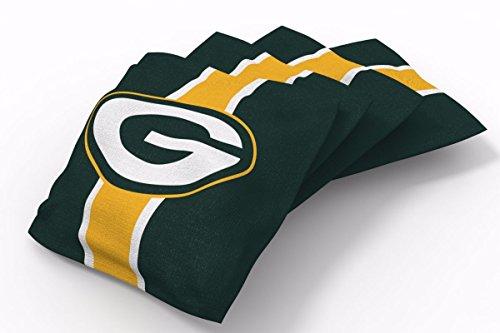 PROLINE 6x6 NFL Green Bay Packers Cornhole Bean Bags - Stripe Design (A)