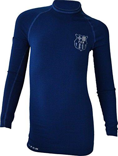 Fc Barcelone - Camiseta térmica para niño, Niñas, Color Azul, tamaño 6/8 Años
