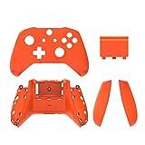Xuebai Carcasa Trasera de Repuesto para Xbox One Slim Matte Reemplazar empuñaduras Laterales Cubierta de la batería Carcasa del Controlador Carcasa Completa para Xbox One Slim Orange