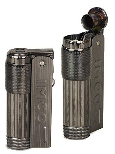 Lifestyle-Ambiente IMCO Feuerzeug Super-Triplex Oil Brass Gunmetal Schriftzug