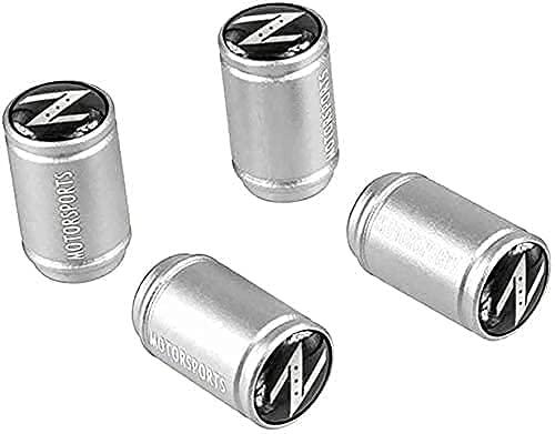 4 Piezas Coche Tapas de Válvula para Nissan 350z 370z nv200 Rogue x-Trail Juke Leaf Note Qashqai, Cubiertas Impermeables de Prueba de Polvo Tapones de Válvula de Neumáticos