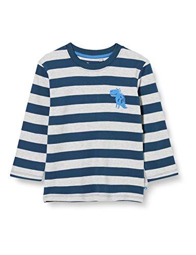 Sigikid Jungen Mini Langarmshirt aus Bio-Baumwolle, Größe 098-128 Pullover, Blau/Streifen-1, 122